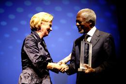 Nobel Peace Prize laureate Kofi Annan