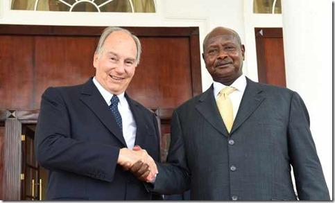 Mawlana Hazar Imam and President Museveni meet at the State House in Entebbe, Uganda. AKD . Zahur Ramji