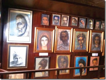 A collection of Ghani Khan's paintings at the Festival. PHOTO, EXPRESS