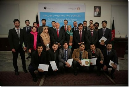 Afghan Graduates of Certificate Programme in Policy Analysis