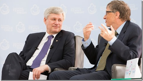 Prime Minister Stephen Harper and Bill Gates renew the call
