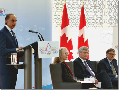 The Aga Khan Development Network's resident representative in Canada, Dr. Mahmoud Eboo, made remarks at the event
