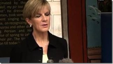 Australian Foreign Minister Julie Isabel Bishop
