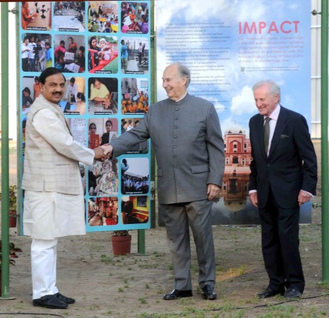 Dr. Mahesh Sharma laid the foundation stone of Humayun's Tomb Site Museum in the presence of His Highness Prince Karim Aga Khan, in New Delhi on April 07, 2015.