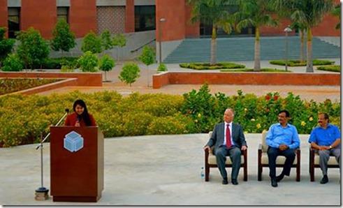 Alisha Sonawalla representing India at an Aga Khan Academy Mock United Nations event. Aga Khan Academy, Hyderabad Aga Khan Academy, Hyderabad