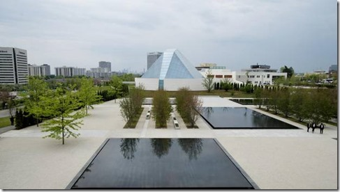 The Aga Khan Park, which draws inspiration from gardens in India and Spain, won't be as welcoming in winter.