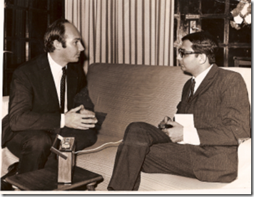 Mansoor Ladha, interviewing His Highness the Aga Khan for Tanzania's daily