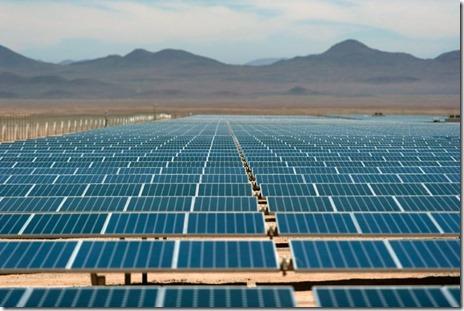 A solar plant near El Salvador, in the Atacama desert, northern Chile