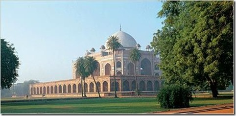 Humayun`s Tomb and Gardens were restored by the Aga Khan Trust for Culture in partnership with the Archeological Survey of India