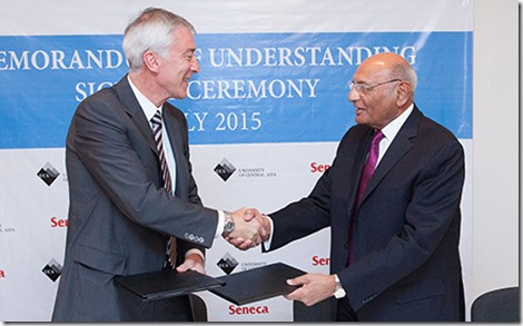 The agreement was signed by Mr Shamsh Kassim-Lakha, Executive Chairman of the UCA Board Executive Committee, and Mr David Agnew