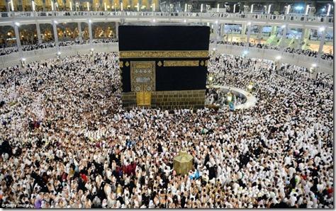 Hajj Pilgrims circumambulating the Ka'bah