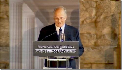 HH the Aga Khan at Athen democracy Foprum