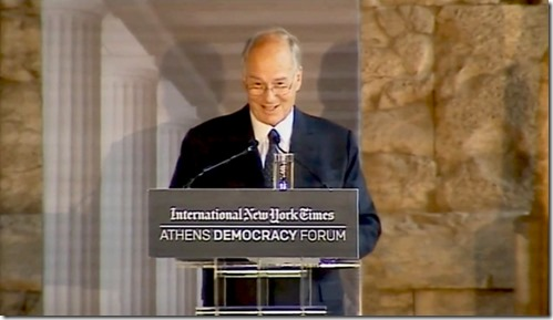 HH the Aga Khan at Athen democracy Foprum