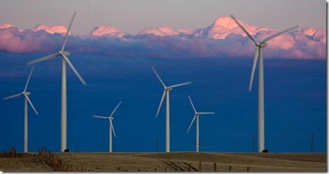 A wind farm in Colorado.