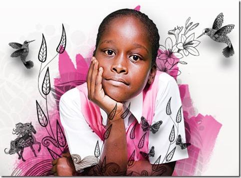 Chela, an 8-year-old Kenyan girl