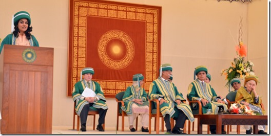 Dr Ruth Pfau, founder of the Mary Adelaide Leprosy Centre, was the chief guest at AKU's convocation in Karachi