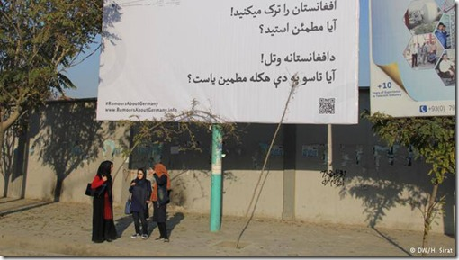 Poster campaign in Kabul