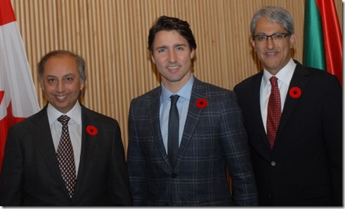 Prime Minister Justin Trudeau visits the Delegation of the Ismaili Imamat in Ottawa. AKDN