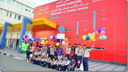 Smile volunteers from Ismaili centre Dubai visiting patients