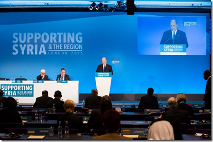 His Highness the Aga Khan addressing the Supporting Syria and the Region conference in London on 4 February 2016