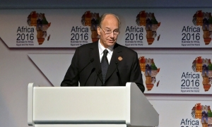 His Highness the Aga Khan delivers the keynote address at the Africa 2016 Forum on 21 February at Sharm el Sheikh, Egypt. AKDN - Zahur Ramji