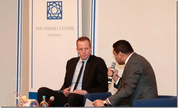 Nick Boles, MP discusses the new National Living Wage initiative at the Ismaili Centre, London. 2