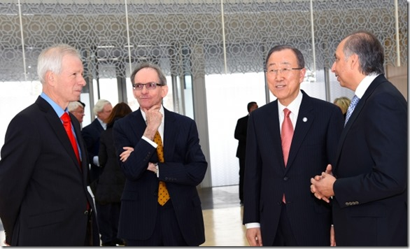 UN Secretary-General Ban Ki-moon visits the Delegation of the Ismaili Imamat