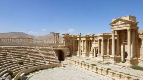 The Roman amphitheatre, said to have been used by IS for executions, remains largely intact
