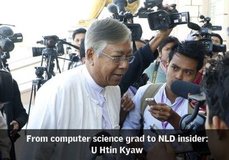 U Htin KJyaw New President on Myanmar