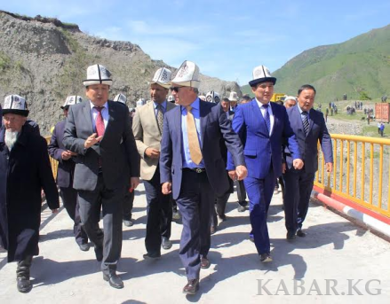 0pening of new Bridge in Kara-Kulja