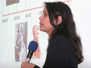 Dr Kulsoom Ghias, a faculty member at the department of biological and biomedical sciences at Aga Khan University, speaks at a seminar titled -The War Against Cancer, Can We Win