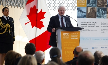 His Excellency David Johnston, Governor General of Canada delivers the opening keynote at the Smart Global Development conference