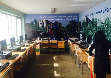 New computer classroom at the Alawuddin Girls Orphanage in Kabul.