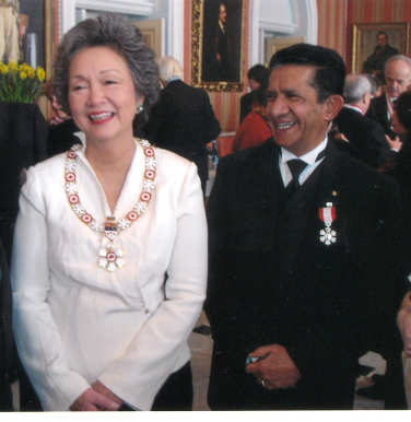 Sultan Jessa with Her Excellency Adrianne Clarkson, the former Governor General of Canada,