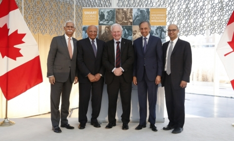 The Governor General of Canada together with leaders representing the Aga Khan Development Network at the Delegation of the Ismaili Imamat in Ottawa.