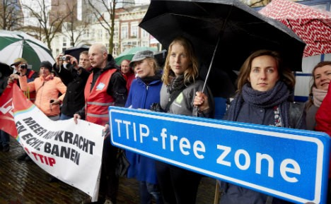 Anti-TTIP demonstrators