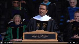Eboo Patel to Wake Forest Grads: 'The Only Shame Is in Stagnation'
