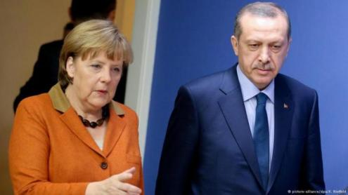 German Chancellor Angela Merkel and Turkish President Erdogan.