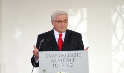 His Excellency Dr Frank-Walter Steinmeier, Germany's Minister for Foreign Affairs, during his laudatory remarks.