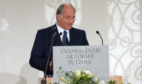 His Highness addressing the Evangelical Academy of Tutzing upon receiving the Tolerance Award, 20 May 2006.