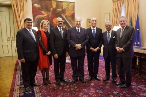 His Highness the Aga Khan meeting with Portuguese President Marcelo Rebelo de Sousa.