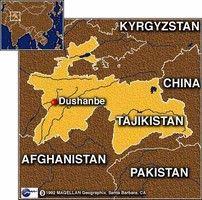 Tajik map