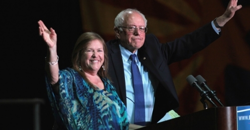 Jane and Bernie Sanders