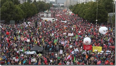 About 80,000 people turned out in Berlin alone