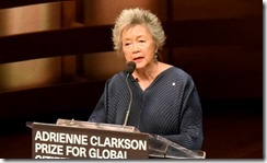 Adrienne Clarkson introduces Mawlana Hazar Imam, recipient of the inaugural Adrienne Clarkson Prize for Global Citizenship