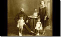Ashad Ali Haji and his family in Madrid, circa 1928.