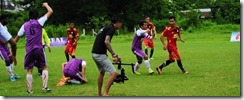 diverse Myanmar football team.