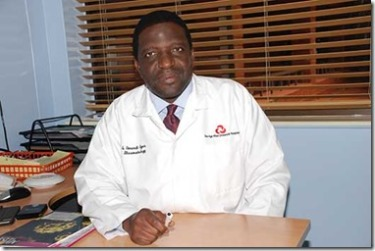 Dr Omondi Oyoo, Consultant Physician and Rheumatologist at Aga Khan University Hospital.