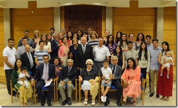 Family portrait of the Spain Jamat with the leaders of the Ismaili Council for Portugal.