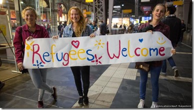 Germany's public welcoming refugees